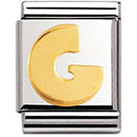 Nomination Gold Letter G Charm Big