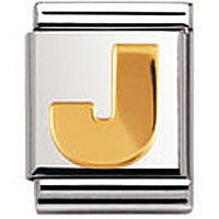 Nomination Gold Letter J Charm Big