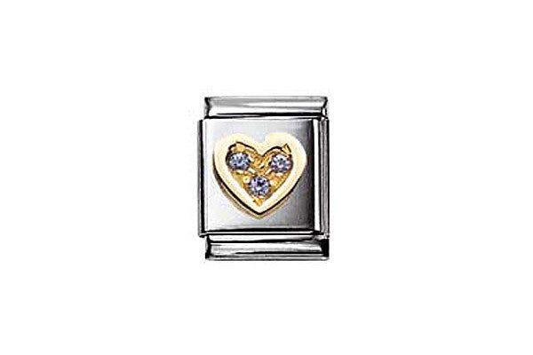 Nomination Cz Light Blue Heart Charm