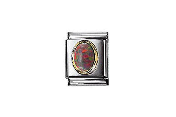 Nomination Oval Red Opal Charm Big