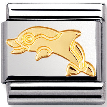Nomination Charm Dolphin Gold