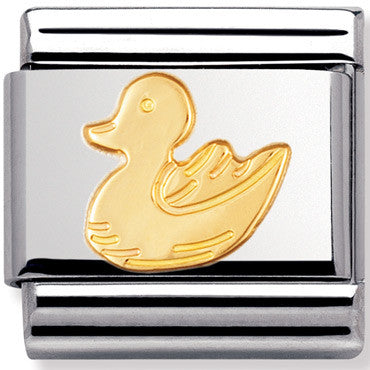 Nomination Charm Gold Goose