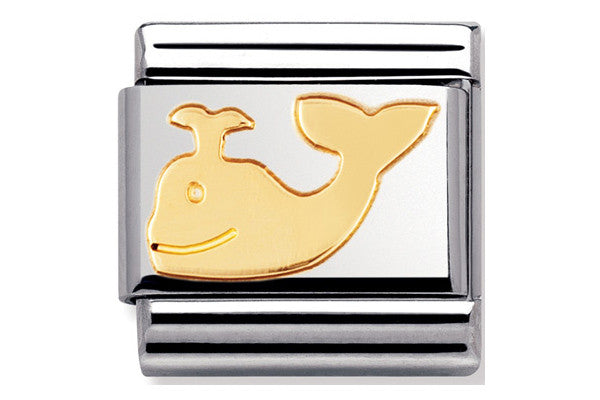 Nomination Charm Gold Whale