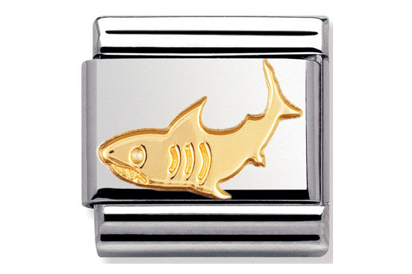 Nomination Charm Gold Shark