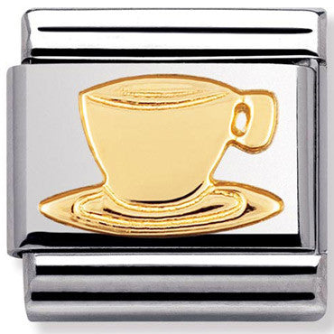 Nomination Charm Gold Coffee Cup