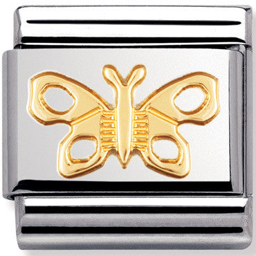 Nomination Charm Gold Butterfly