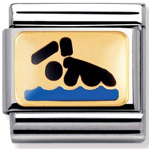 Nomination Charm Enamel Swimmer