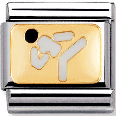 Nomination Charm Enamel Karate