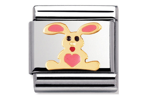 Nomination Charm Enamel Pink Rabbit