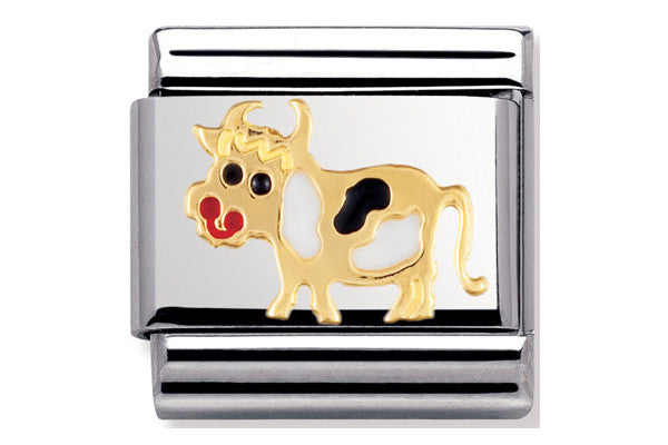 Nomination Charm Enamel Cow