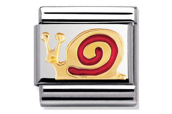 Nomination Charm Enamel Red Snail