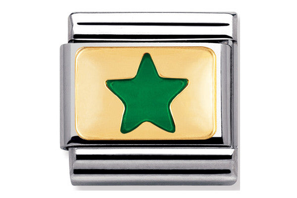 Nomination Charm Green Star