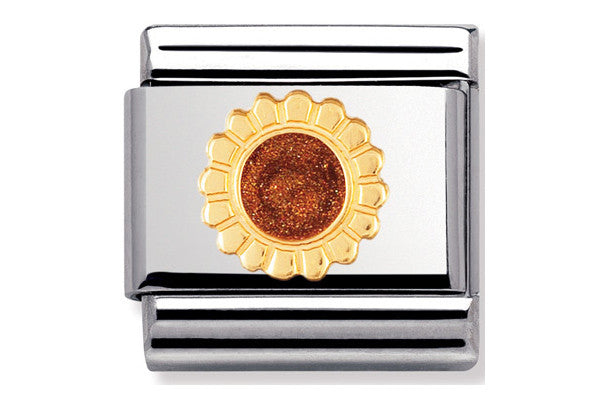 Nomination Charm Enamel Sunflower
