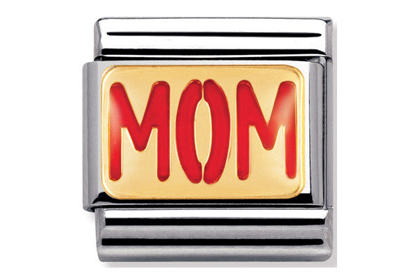 Nomination Charm Enamel And Gold Mom