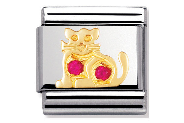 Nomination Charm Red Cat