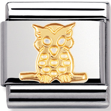 Nomination Charm Gold Owl Full