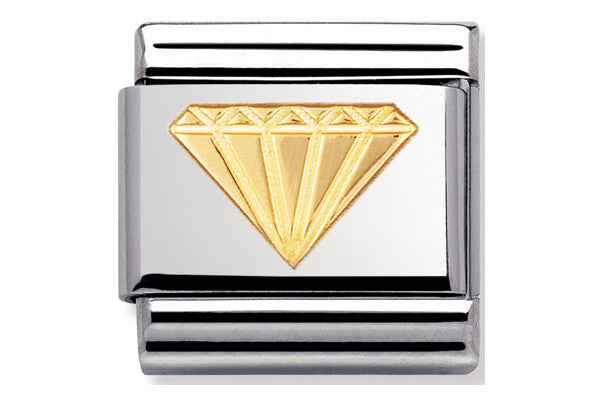 Nomination Charm Gold Diamond