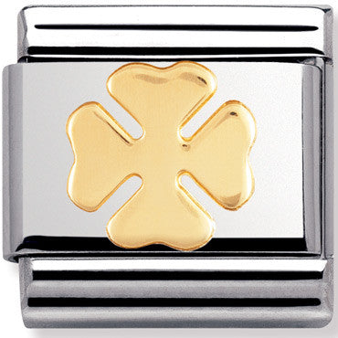 Nomination Charm Gold Four Leaf Clover