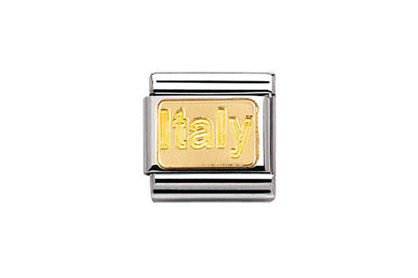 Nomination Charm Gold Italy Plate