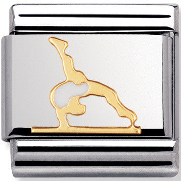 Nomination Charm Enamel Gymnast