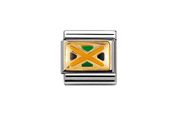 Nomination Charm Jamaican Flag