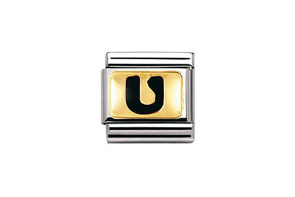 Nomination Charm Black Letter U