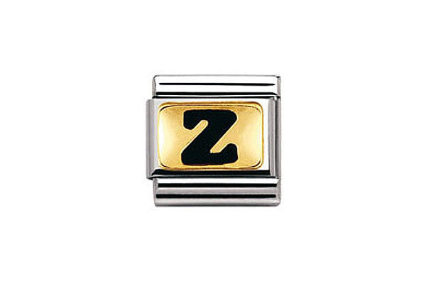 Nomination Charm Black Letter Z