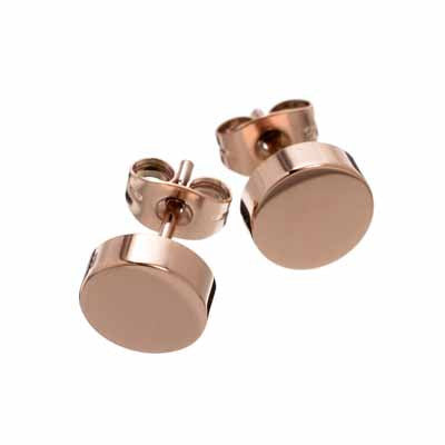 Edblad Dottie Shiny Rose Gold Stud Earrings