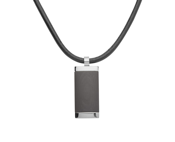 AN 66 Unique Black and Steel Pendant