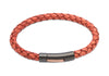 B320ATA Unique Antique Tan Leather Bracelet