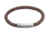 B322DB Unique Dark Brown Leather Bracelet