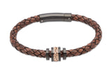 B326ADB Antique Dark Brown Leather Bracelet
