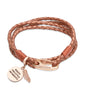 B332CO Unique Copper Leather Bracelet