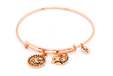 CRBT0711RG Chrysalis Niece Expandable Bangle