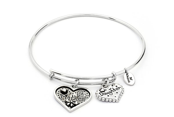 CRBT0721SP Chrysalis Mother & Daughter Expandable Bangle