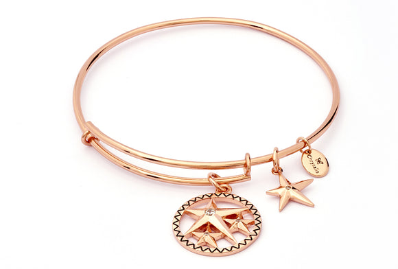 CRBT1807RG Lucky Star Expandable Bangle