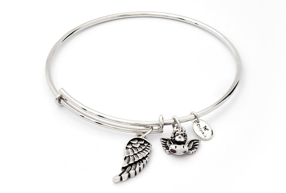CRBT1813SP Chrysalis Guardian Angel Expandable Bangle
