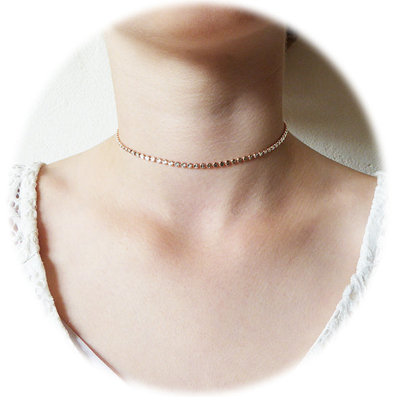SAN - Links of Joy Choker A-D8 Sterling Silver / Rose Goldplated