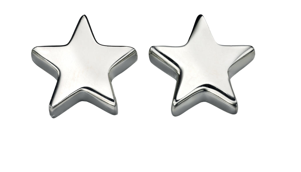 E4620 Silver Star Stud Earrings