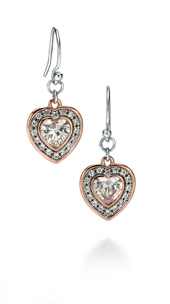 E5069C Fiorelli Heart Earrings