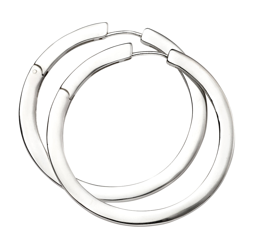 E5381 Silver Hoop Earrings