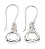 E5401 Silver Drop Earrings