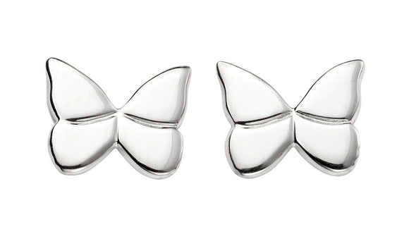 E5424 Silver Butterfly Stud Earrings