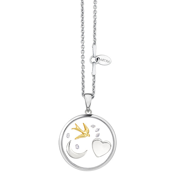 ASTRA The Moon and Back Necklace