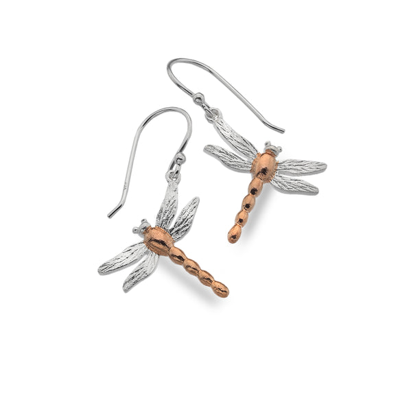 P1005 Seagems Silver Dragonfly with Rose Gold Plating