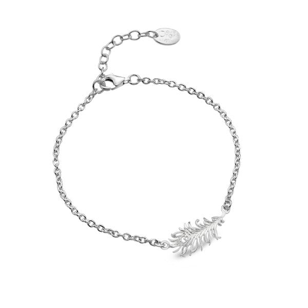 P1712 Seagems Sterling Silver Original Peacock Feather Bracelet