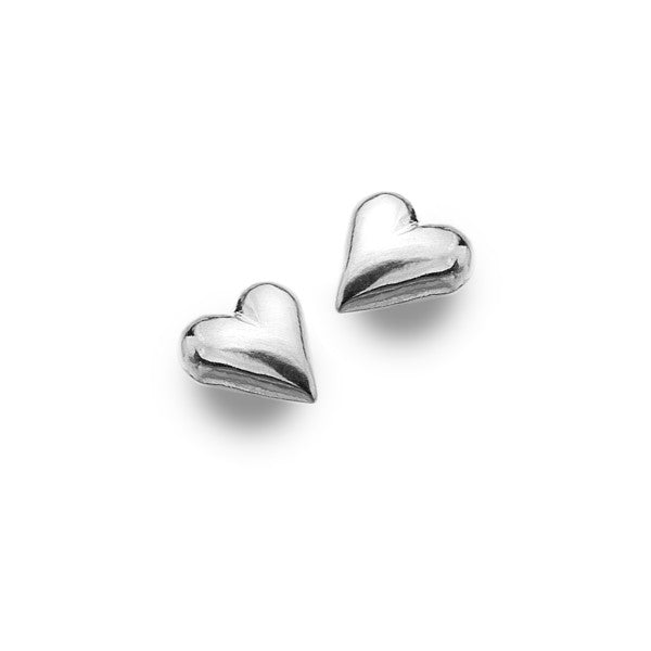 P3110 Seagems Silver Heart Stud Earrings