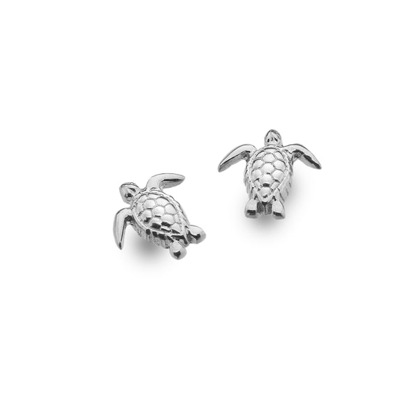 P3783 Seagems Silver Turtle Stud Earrings