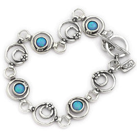 Elran Aviv Silver Bracelet With Small Flowers Design