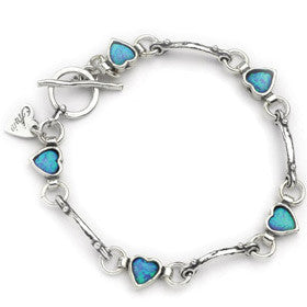 Elran Aviv Silver Bracelet With Heart Design